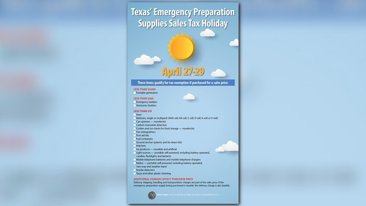 How Much Is Sales Tax In Texas >> You Should Know Texas Emergency Preparation Sales Tax Holiday Set