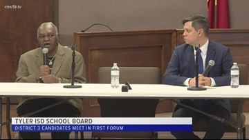 Candidates vying for the District 3 seat on Tyler ISD board sound off during candidate forum