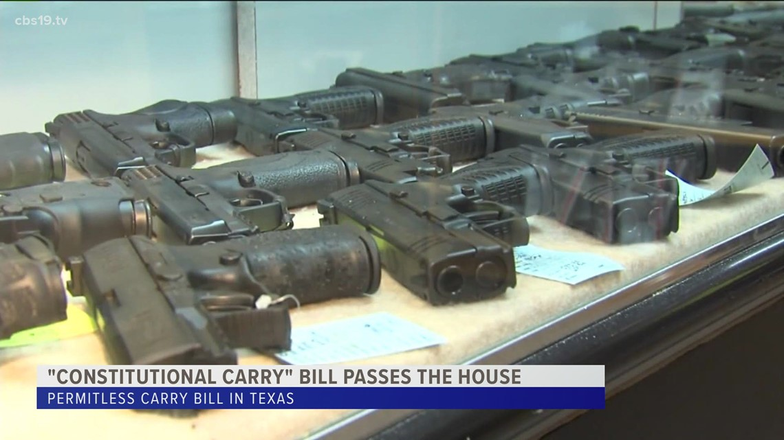 ETX law enforcement concerned after permit-less bill passes the house