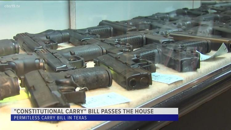 ETX law enforcement concerned after permit-less bill passes the house