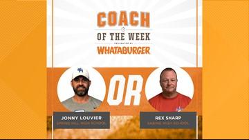 VOTE: Whataburger Coach of the Week - Jonny Louvier vs. Rex Sharp