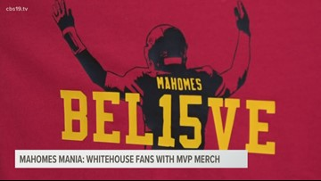 Whitehouse Flowers selling Mahomes t-shirts ahead of Super Bowl