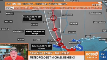 The latest on Barry and potential impacts for East Texas