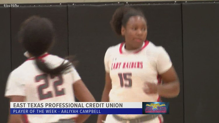 East Texas Professional Credit Union Player of The Week: Tyler Legacy's Aaliyah Campbell