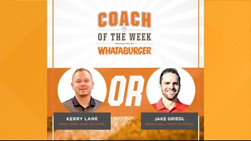 VOTE: Whataburger Coach of the Week - Kerry Lane vs. Jake Griedl