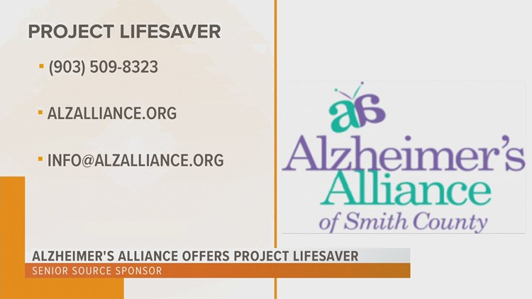 Alzheimer's Alliance of Smith County offers Project Lifesaver to help locate dementia, Alzheimer's patients who wander