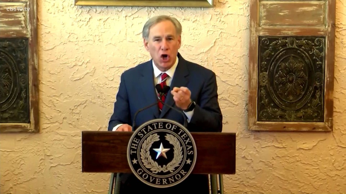 Gov. Abbott ends statewide mask mandate, Texas businesses can open at 100%