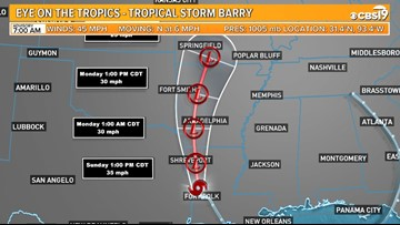 TRACKING BARRY: What it means for East Texas | cbs19 tv