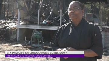 ETX family's home burns down