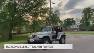 Jacksonville ISD teacher parade