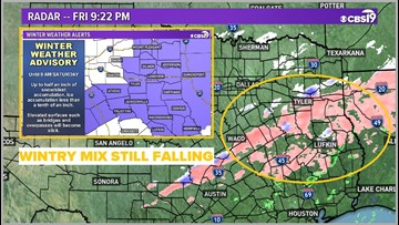 Winter Weather Advisories issued as wintry mix possible overnight in East Texas