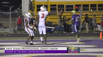 East Texas Professional Credit Union Player of The Week: Savion Williams
