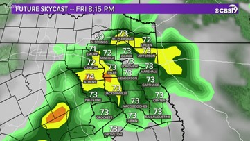 Rain chances rising in the coming days for East Texas!
