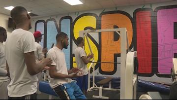 Tyler Glass Recreation Center reveals surprise mural
