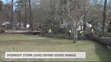 Strong winds cause major damage across East Texas