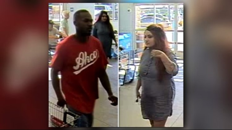 HAVE YOU SEEN THEM? The Lindale Police Department is looking for two people accused of stealing from a local Walmart.