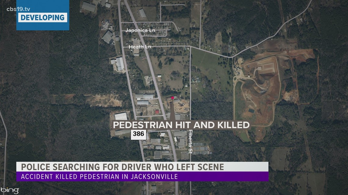 Jacksonville police searching for driver who left scene of accident that killed pedestrian