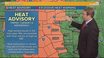 Small rain chances hang around, but the heat is rising for East Texas as well!