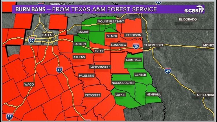 Smith County Texas Added to Burn Ban