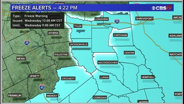 First major cold snap of the season arrives in East Texas