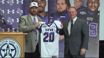 SFA introduces Colby Carthel as its new head coach