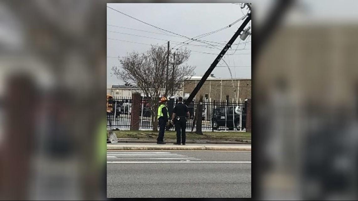 TRAFFIC ALERT: Crews on scene of crash on SSE Loop 323, power line down
