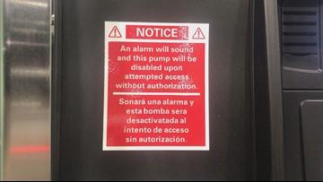 ETX gas station posts card skimmer deterrent