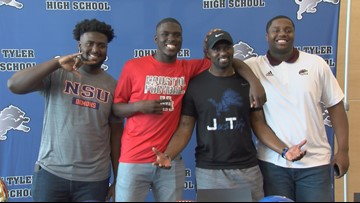 EARLY SIGNING DAY - 3 John Tyler stars make their college choice