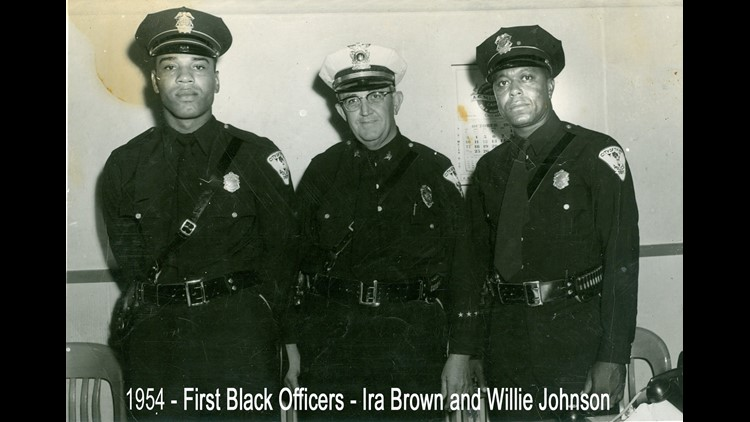 1954 - First Black Officers - Ira Brown and Willie Johnson