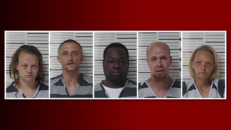 5 arrested for drugs, warrants, resisting arrest during traffic