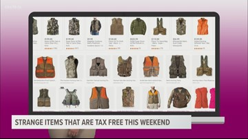 Strange things you can buy tax free this weekend