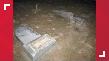 Officials searching for vandals who left more than $120,000 of damage in historic Goshen Cemetery