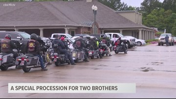 A special procession for the two brothers killed during severe weather