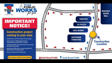 Tyler business expresses concern about construction on Old Bullard Rd