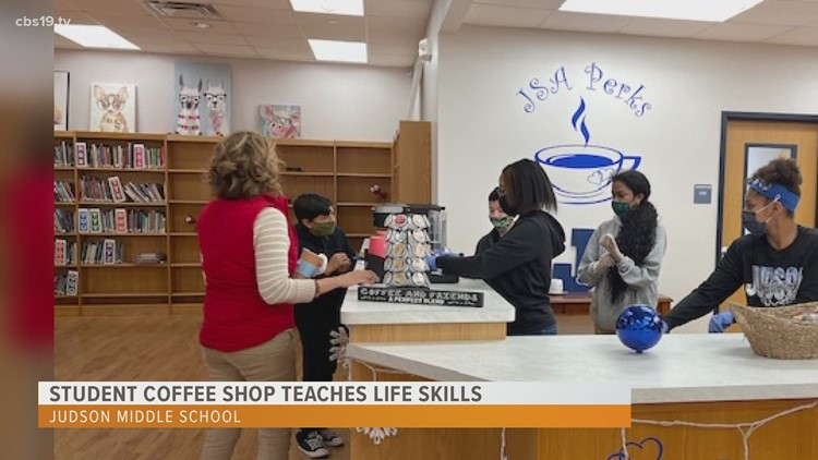 Judson Middle School students open coffee shop, gain real-life skills