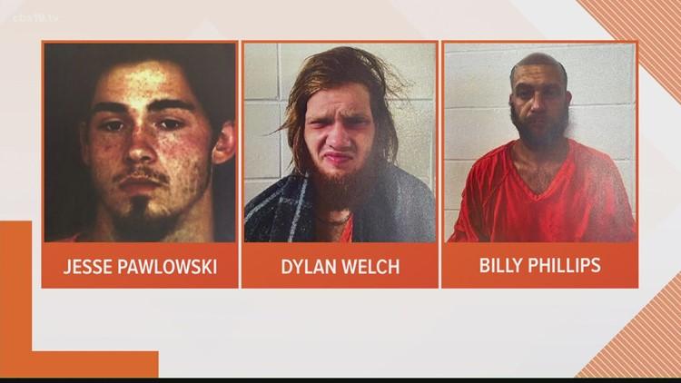 Officials identify 3 men arrested for quadruple murder in Cherokee County