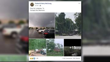 VERIFY: Did viral photo show tornado in Longview?