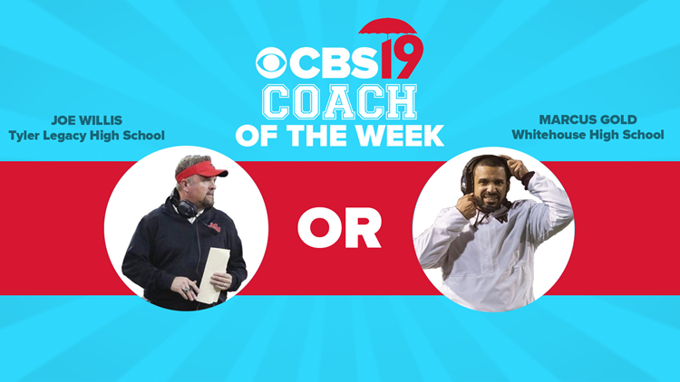 VOTING CLOSED: CBS19's Coach of the Week — Tyler Legacy's Joe Willis vs. Whitehouse's Marcus Gold