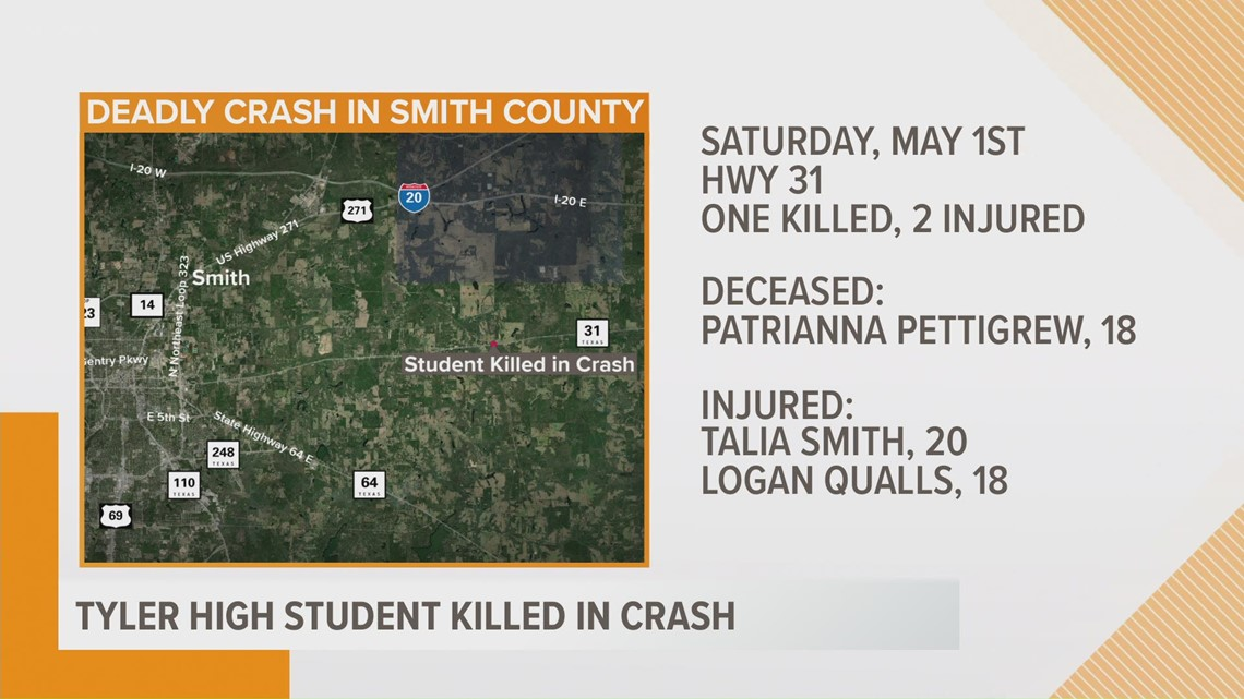 Tyler High School senior killed in crash