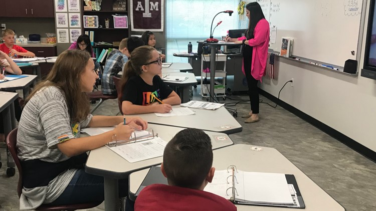 Mrs. Bolton teaches Whitehouse Junior High math class