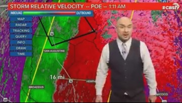 WATCH: CBS19 Weather Team provides overnight storm coverage