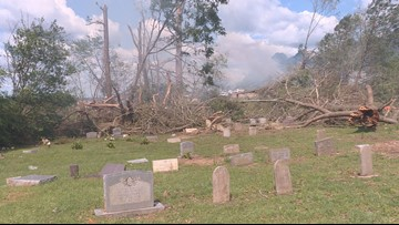 Alto cemetery left to pick up the pieces after tornadoes