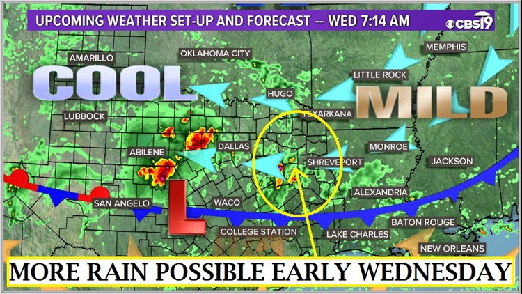 Map Of Texas Weather.Tuesday Night Web Weather