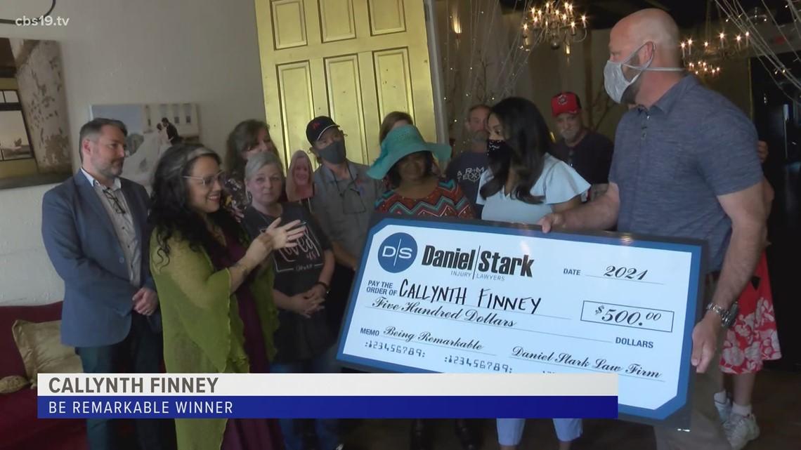 Be Remarkable Winner: Callynth Finney