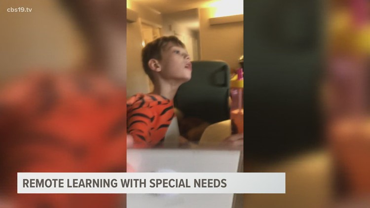 Special needs family adjusts to remote learning