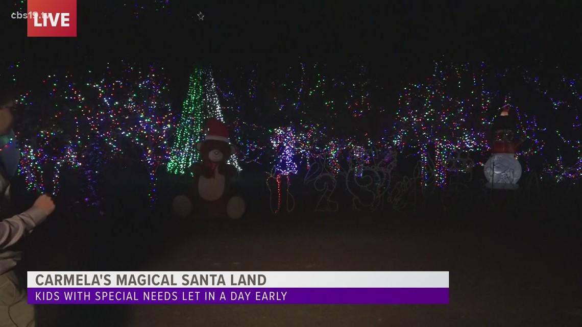 Christmas At The Park 2021 Longview Carmela S Magical Santa Land In Longview Open To The Public Cbs19 Tv