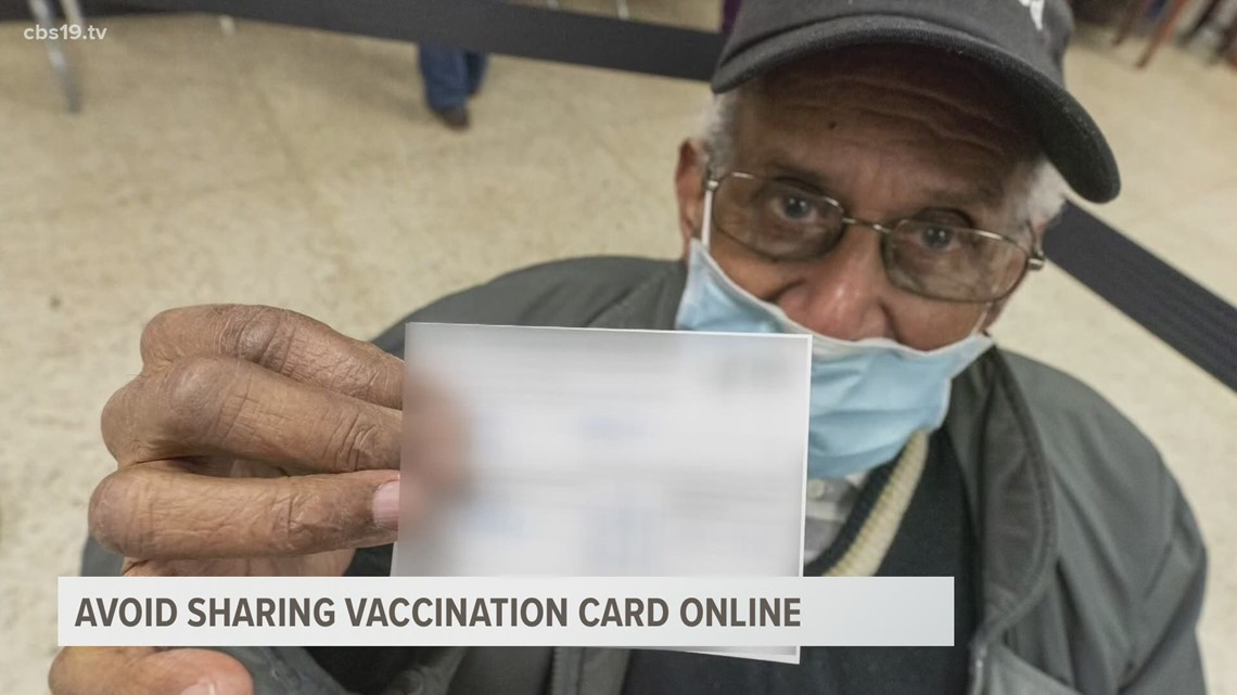 Avoid being a target for scammers by refraining from posting your COVID vaccination card on social media