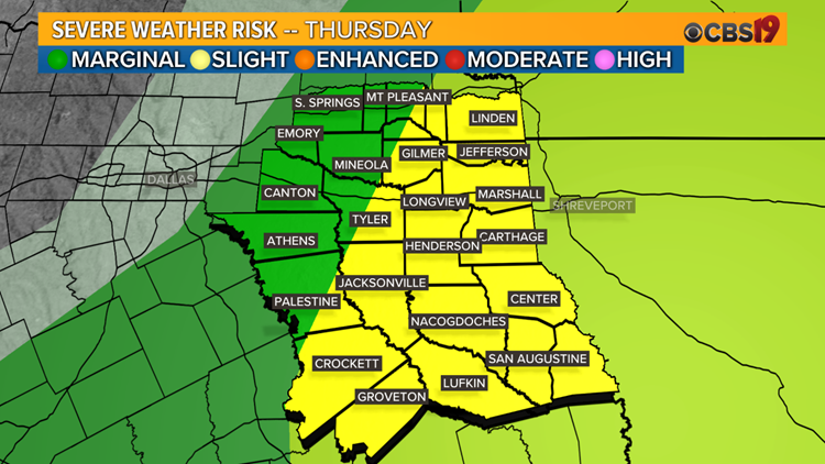 Severe weather threat continues for East Texas Tonight