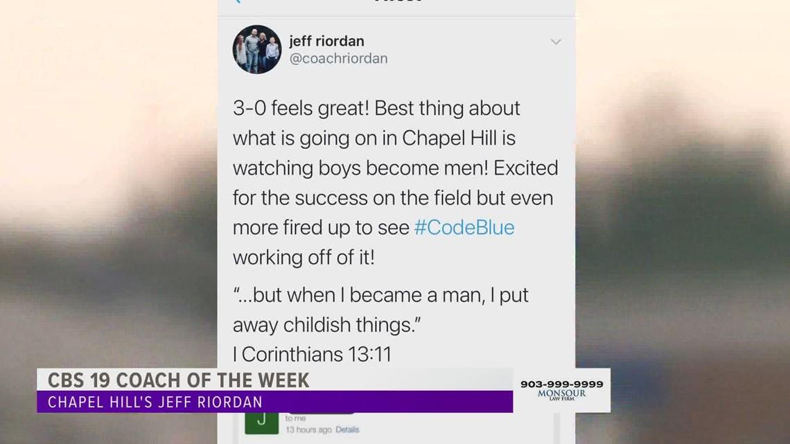 Coach of the Week: Chapel Hill's Jeff Riordan