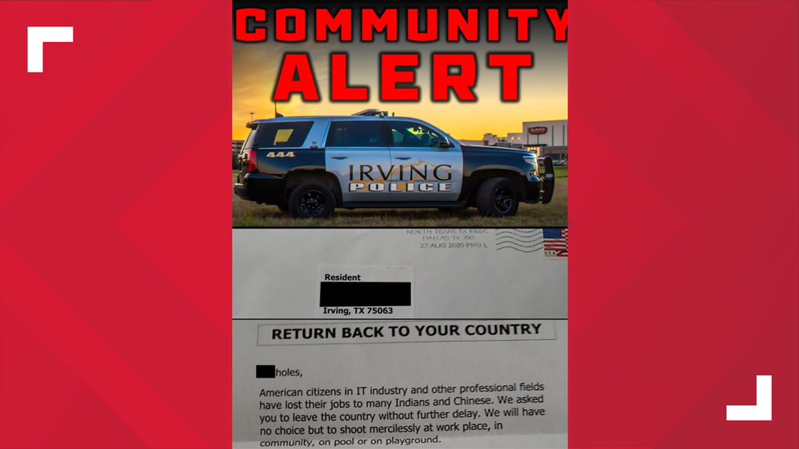 Irving Christmas Parade 2020 Irving police investigating threatening, racist letter sent to